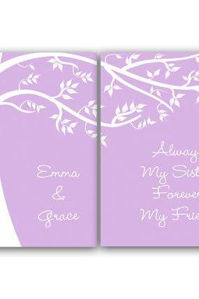 DIGITAL DOWNLOAD - Sisters Wall Art, Sister Quote, DIGITAL DOWNLOAD Personalized Kids Wall Art, Kids Name Art, Girls Room Decor - KIDS74