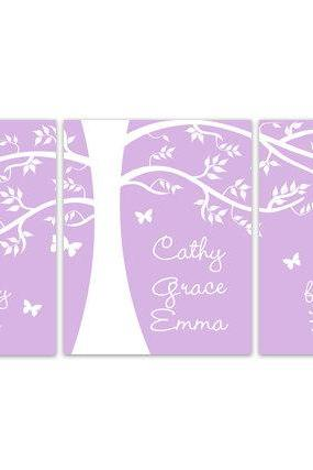 DIGITAL DOWNLOAD - Sisters Wall Art, Sisters Quote, DIGITAL DOWNLOAD Kids Name Art, Lavender Nursery Decor, Triplet Girls Room Decor - KIDS151