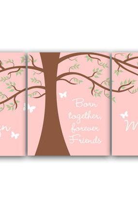 DIGITAL DOWNLOAD - Sisters Wall Art, Sister Quote, DIGITAL DOWNLOAD Personalized Twins Wall Art, Kids Name Art, Girls Room Decor - KIDS126
