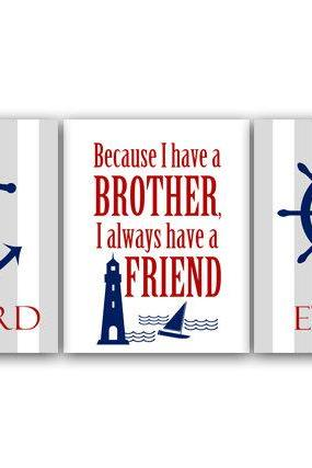 DIGITAL DOWNLOAD - Brothers Wall Art, DIGITAL DOWNLOAD, Printable Wall Art, Brothers Quote, Personalized Kids Wall Art, Kids Name Art, Boys Room Decor - KIDS78