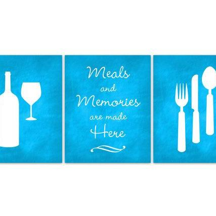 DIGITAL DOWNLOAD - Kitchen Quote Art, INSTANT DOWNLOAD, Fork Spoon Knife Art, Wine Art Print, Dining Room Art, Retro Kitchen Wall Art, Home Decor - HOME101